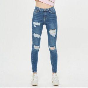 Topshop distressed skinny jamie jeans 28 (ф45)